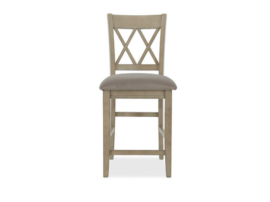 """Casual 40.5"""" X-Back Bar Stool in Light Brown"""