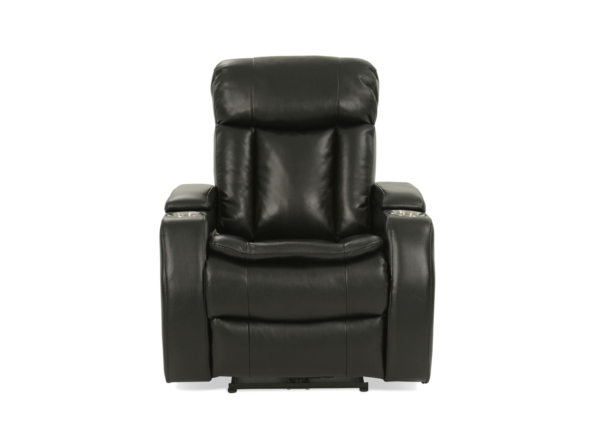 Leather 36 Power Recliner in Black Mathis Brothers Furniture