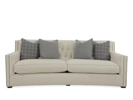 """Contemporary Button-Tufted 92"""" Sofa in White"""