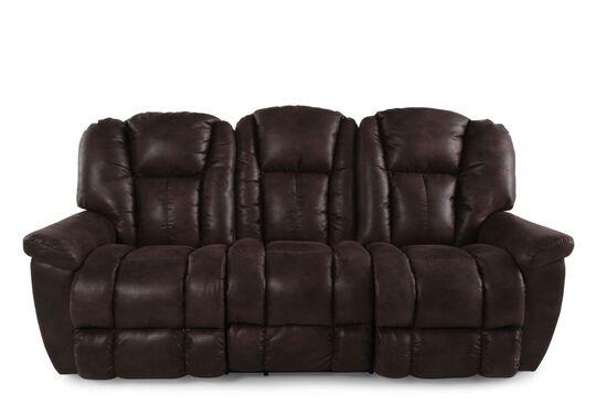 "Microfiber 88"" Reclining Sofa in Sepia"