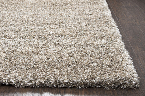 Transitional Hand-Tufted 3' x 3' Unknown Rug in Light Brown