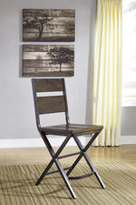 """Casual 43"""" Armless Bar Stool in Brown"""