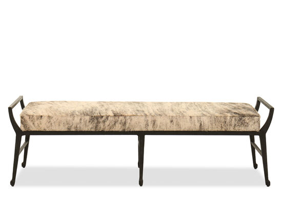 """61.5"""" Contemporary Bench in Black"""