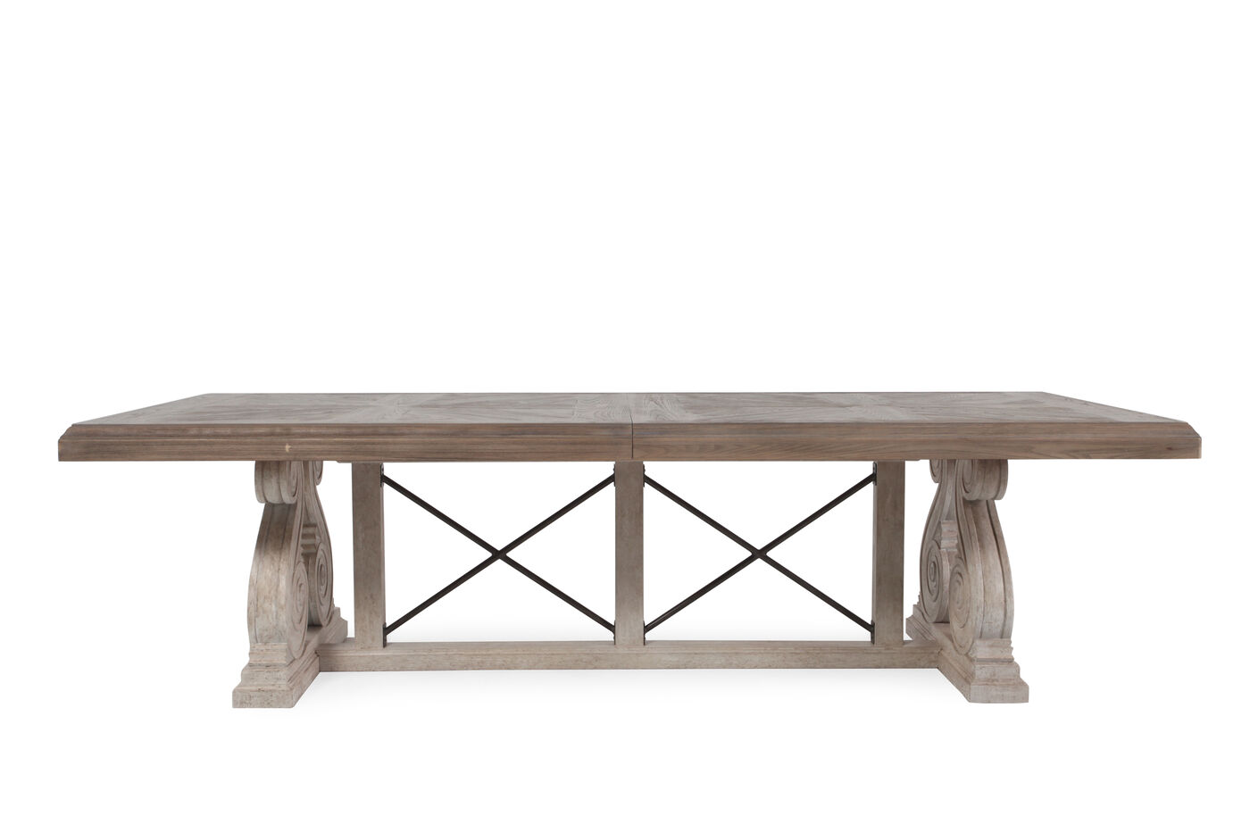 Images Traditional 46 X Motif Dining Table In Light Oak