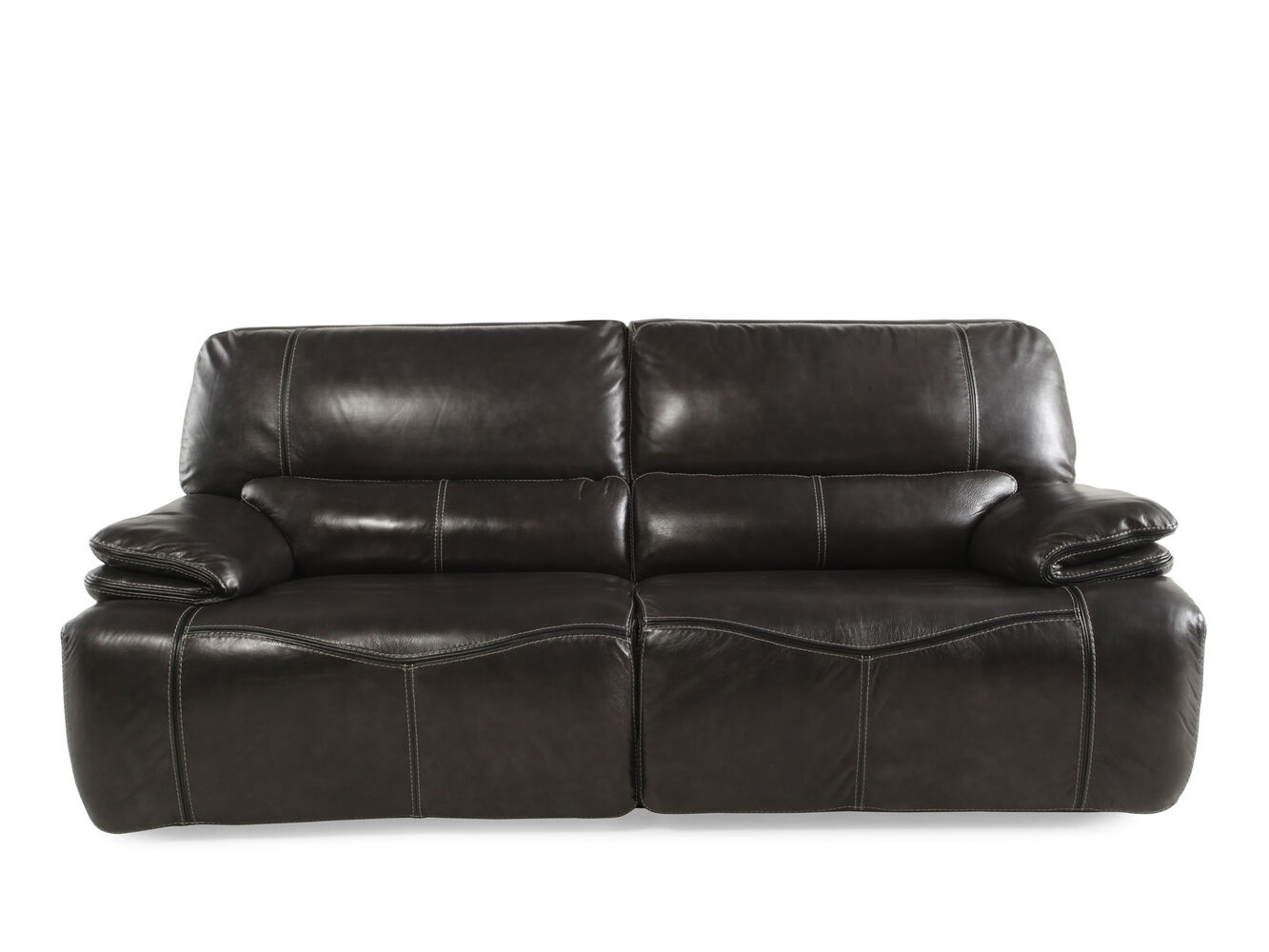 Leather Sofa Las Vegas Reclining Leather 43 Sofa In Gray