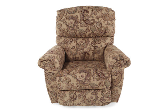 "Contemporary 39"" Floral-Patterned Recliner"