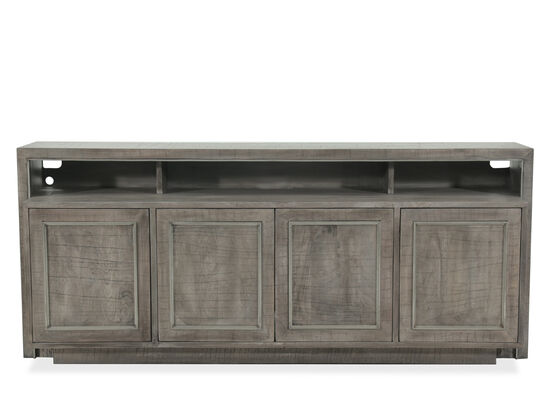 Transitional Open Cubicles Entertainment Console in Gray