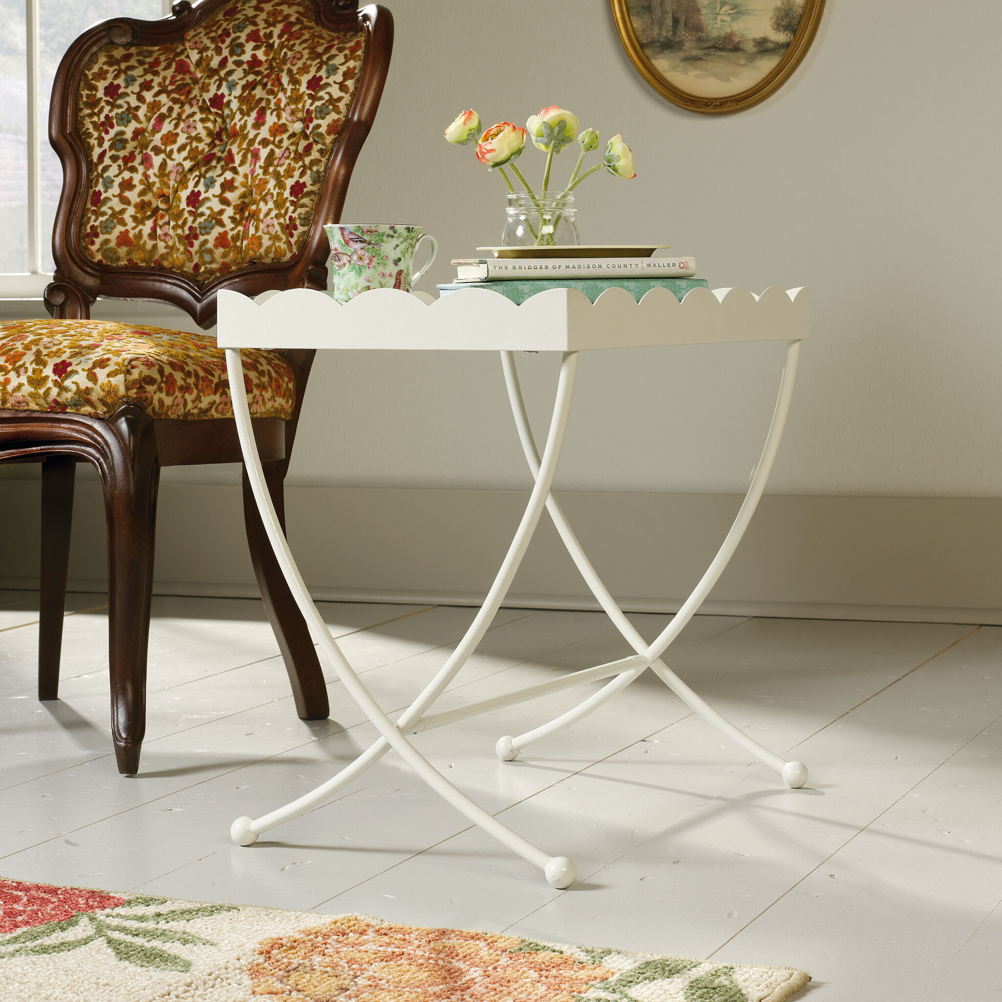 MB Home Orchard Cream Side Table