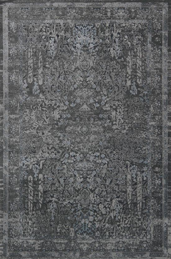 """Transitional 1'-6""""x1'-6"""" Square Rug in Grey/Grey"""