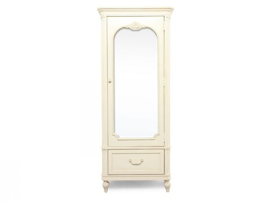 Rose Carved Traditional Armoire in White