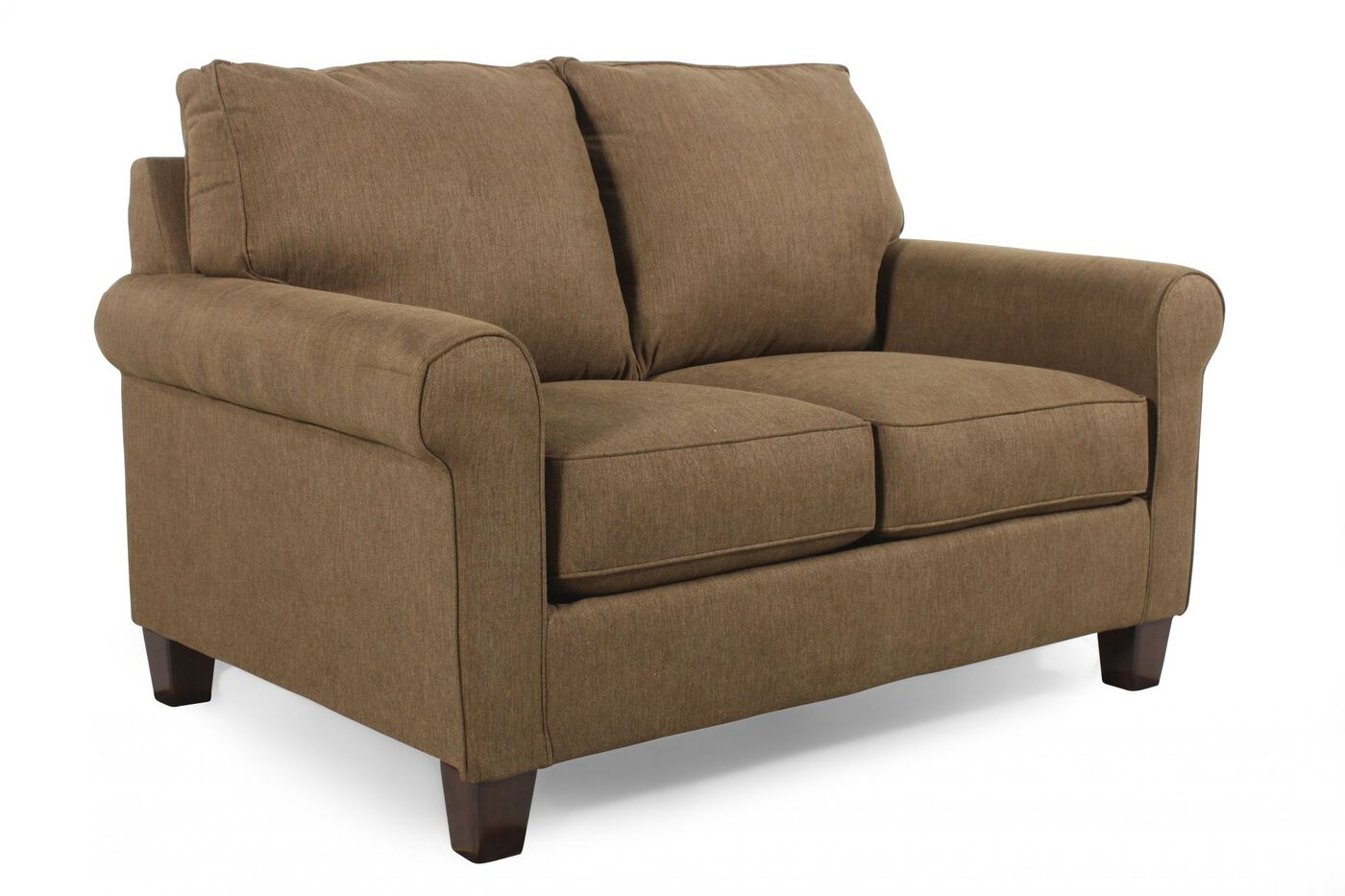 contemporary 78 twin sleeper loveseat in basil green. Black Bedroom Furniture Sets. Home Design Ideas
