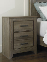 "29.5"" Casual Two-Drawer Nightstand in Warm Gray"