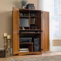 MB Home Sleek Oak Abbey Oak Computer Armoire