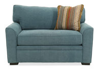 "Transitional 54"" Chairbed in Blue"