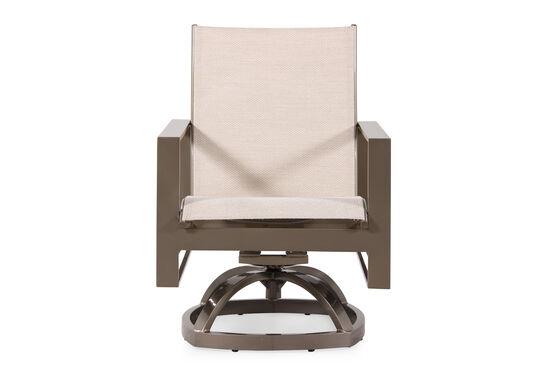 Contemporary Aluminum Swivel Rocker Chair in Beige