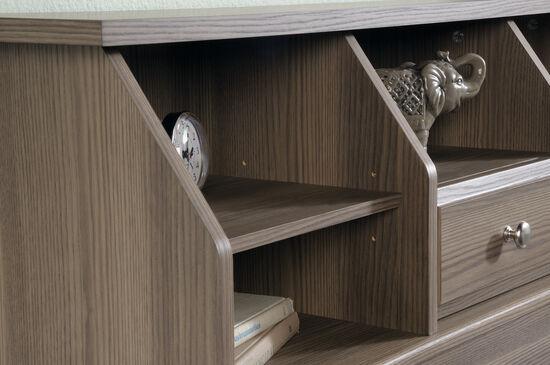 "Transitional 42"" Twin Bookcase Headboardin Diamond Ash"