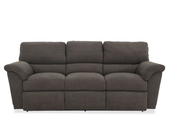 "Contemporary 90"" Reclining Sofa in Granite"