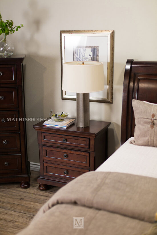 "58"" Traditional Five-Drawer Chest in Dark Brown"