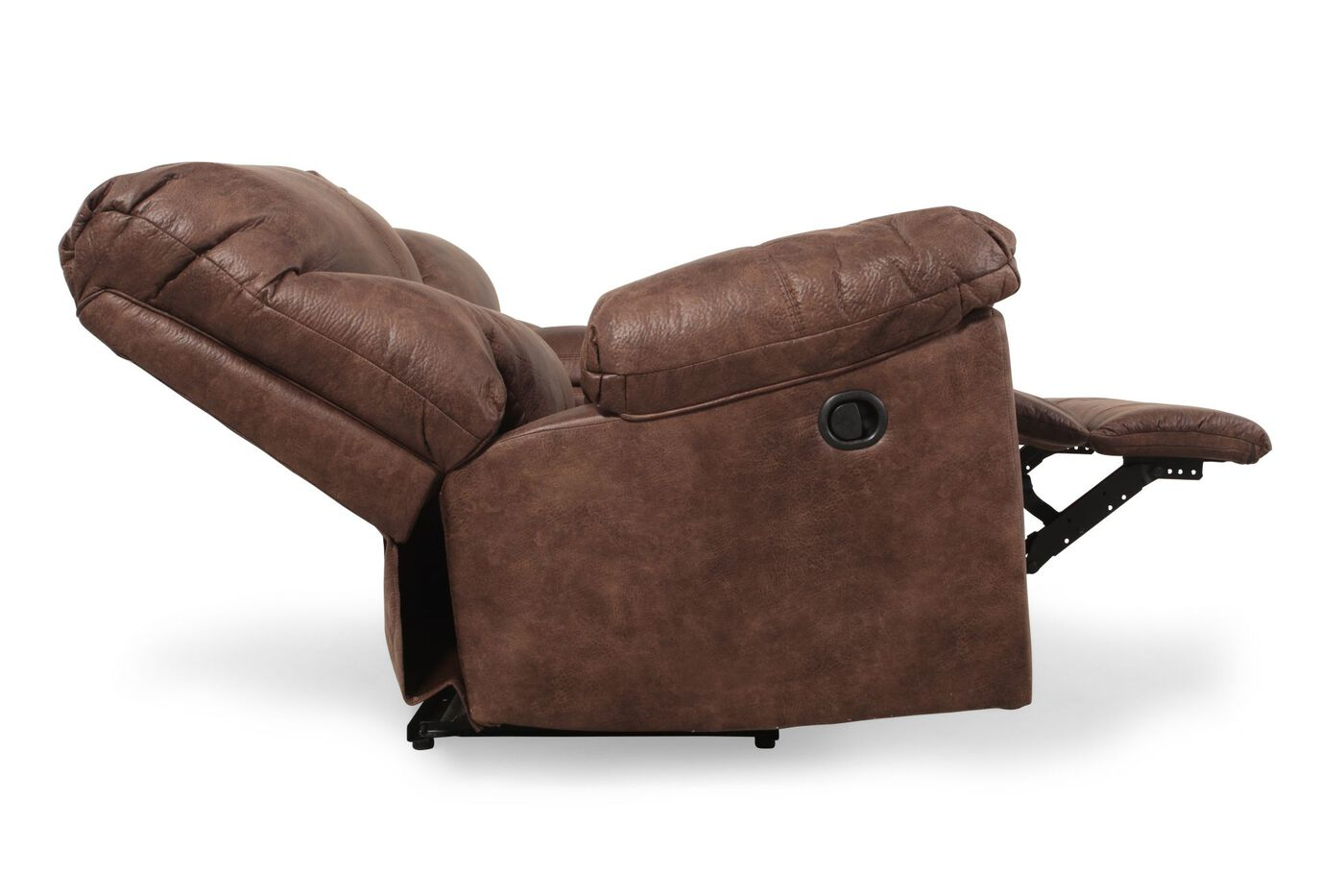 Reclining Contemporary 80 Loveseat With Console In Gunsmoke Mathis Brothers Furniture