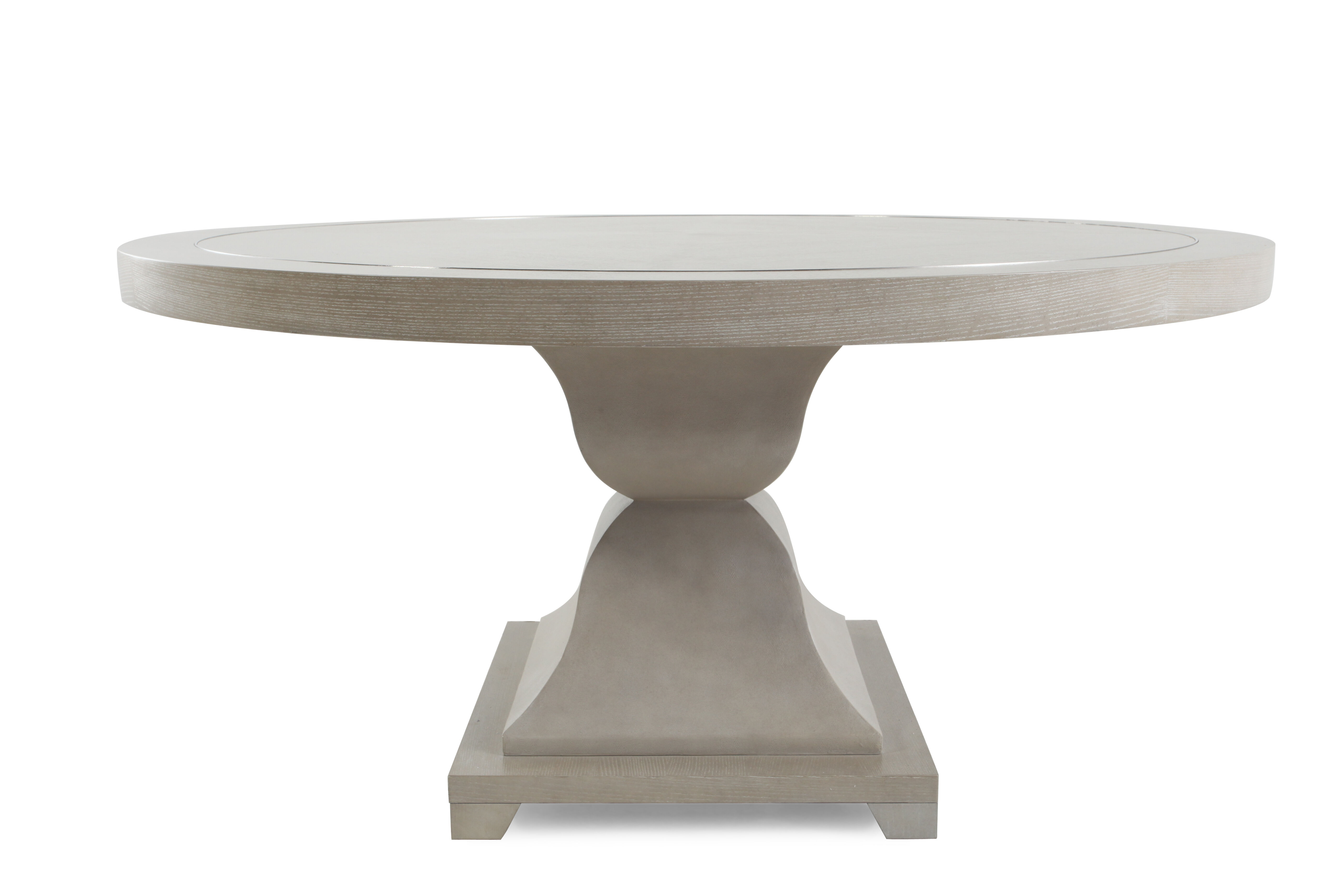 Images Metropolitan 60u0026quot; Round Dining Table With Leather Patterns In  Heathered Gray Metropolitan 60u0026quot; Round Dining Table With Leather  Patterns In ...
