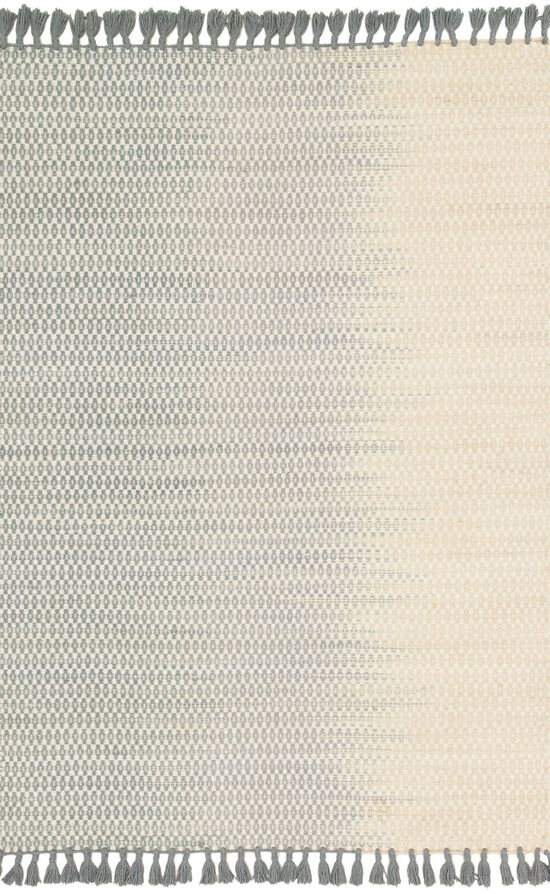 """Transitional 1'-6""""x1'-6"""" Square Rug in Ivory/Mist"""