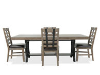Samuel Lawrence Fb Leather Brown Five-Piece Dining Set