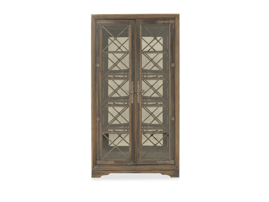 Refined Romantic Luxury Sattler Display Cabinet in Brown