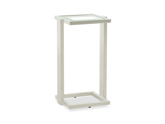 Square Transitional Drink Table in White