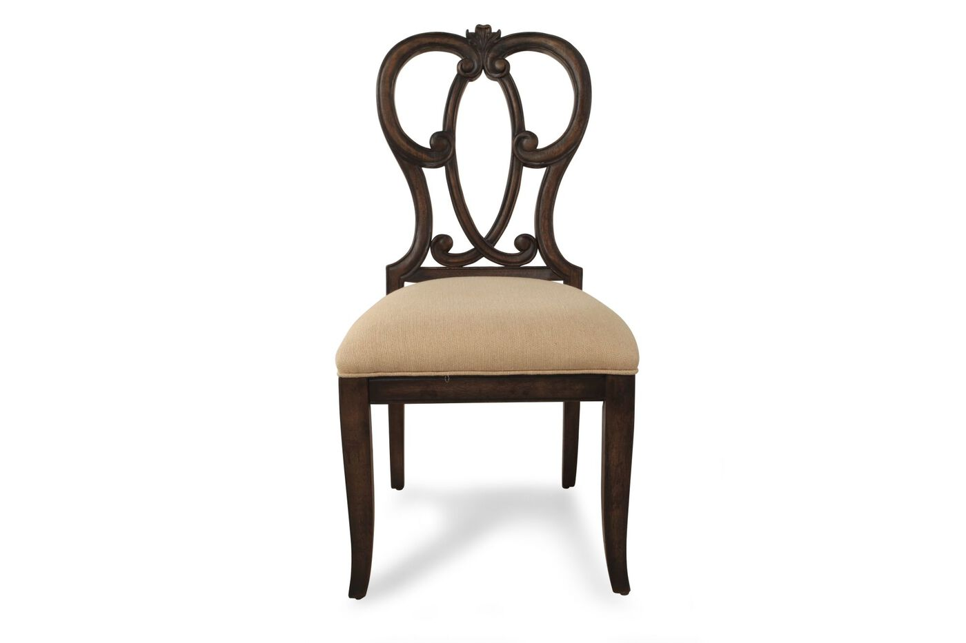 Images Traditional Desk Chair In Dark Brown