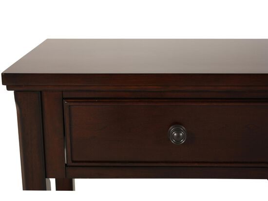 Two-Drawer Traditional Sofa Table in Brown Cherry