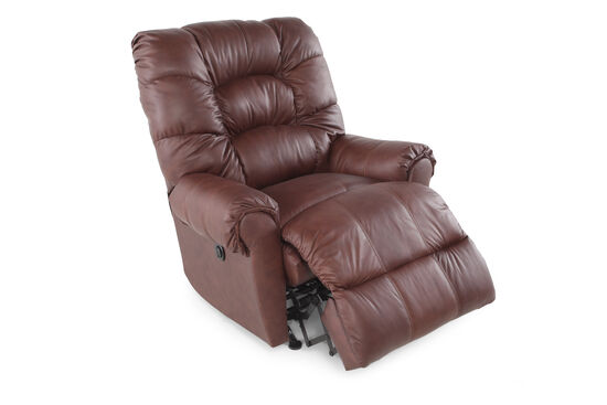 "Contemporary 40"" Power Recliner in Brown"