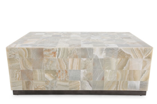 Rectangular Stone Top Cocktail Table
