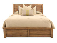 """58"""" Planked King Bed in Weathered Brown"""