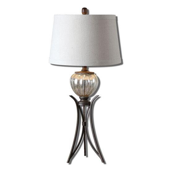 Trestle Base Table Lamp in Rustic Bronze