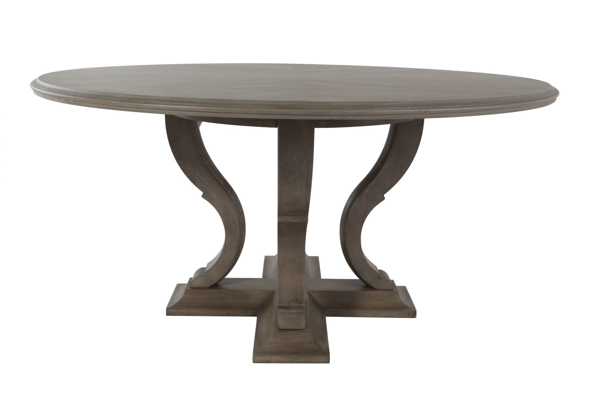 Marvelous Images Refined Romantic Luxury 60u0026quot; Round Dining Table In Gray Cashmere  Refined Romantic Luxury 60u0026quot; Round Dining Table In Gray Cashmere