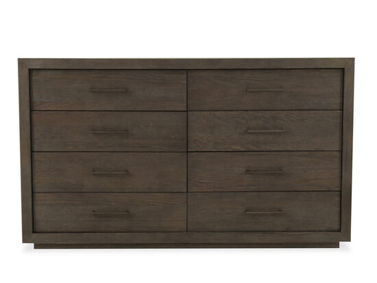 "42"" Mid-Century Modern Eight-Drawer Dresser in Charcoal"