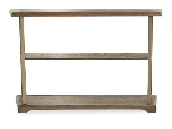 Casual Two-Shelf Sofa Table in Brown