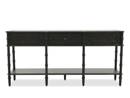 Open-Shelf Casual Console in Brown