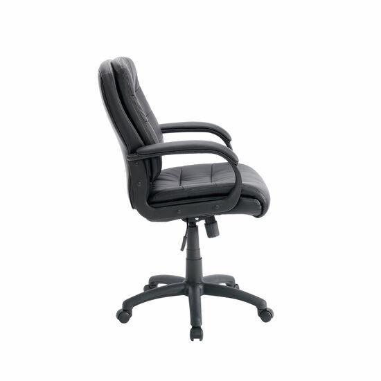 Contoured Lumbar Support Manager's Swivel Tilt Chairin Black