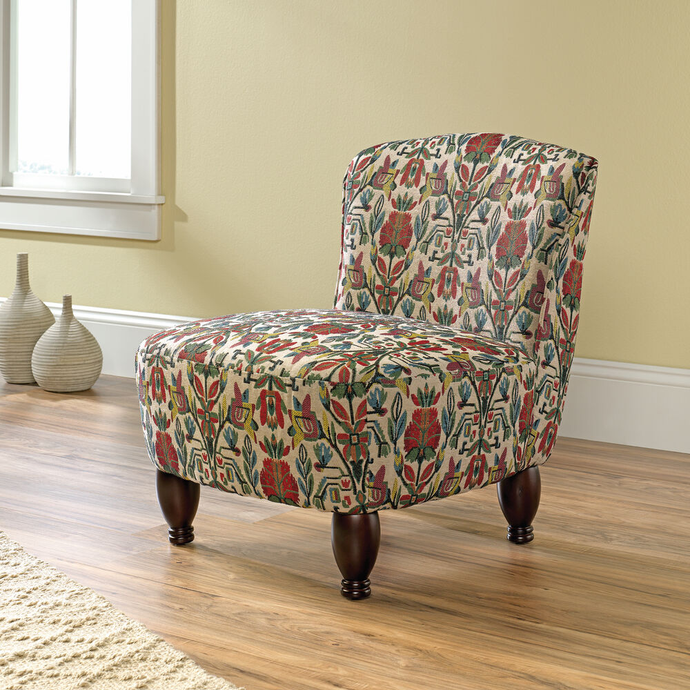 "Mathis Brothers Accent Reclining Chair: Woven Floral-Patterned Contemporary 26"" Accent Chair"