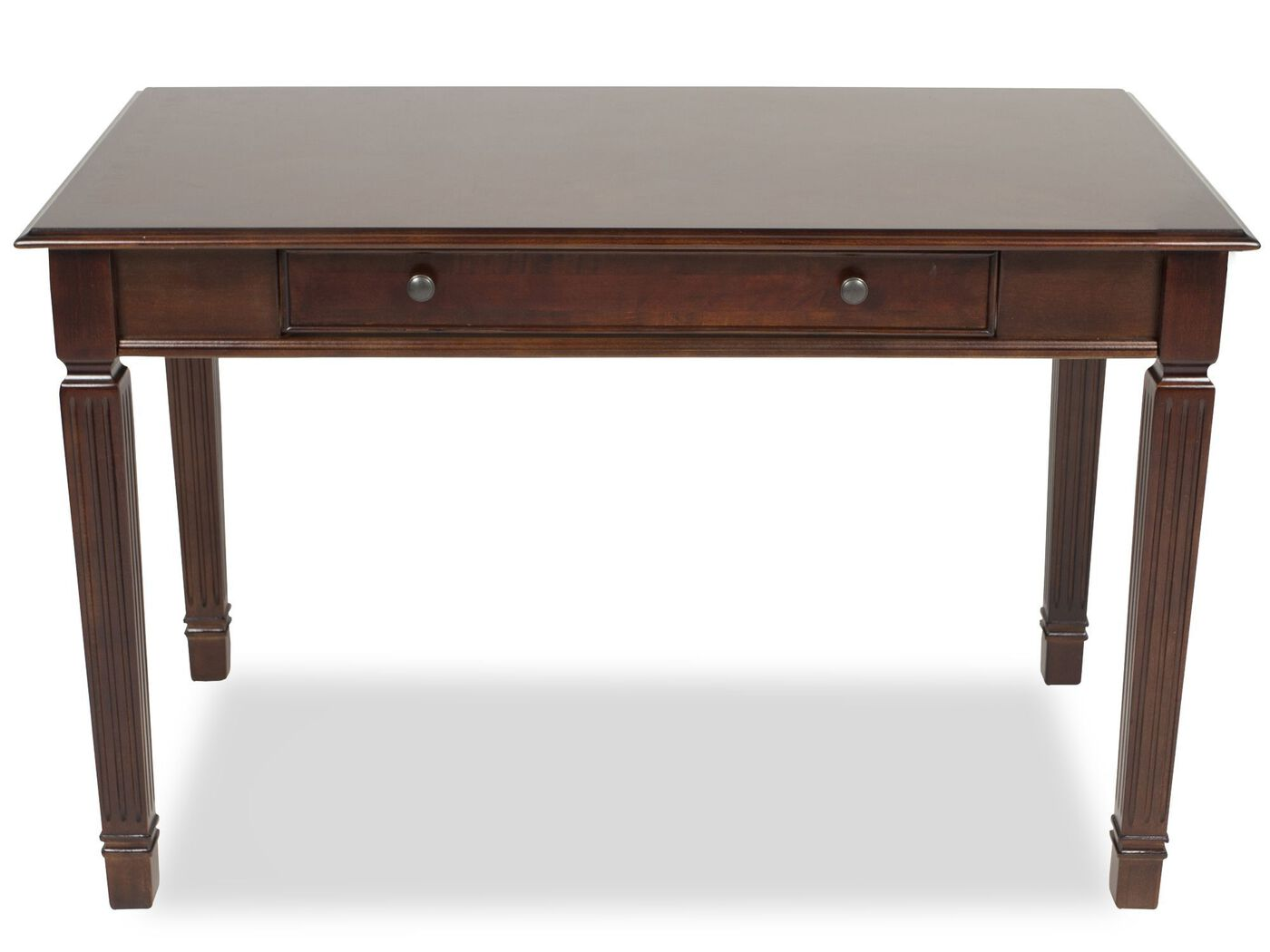 48 quot  traditional one drawer desk in brown mathis brothers