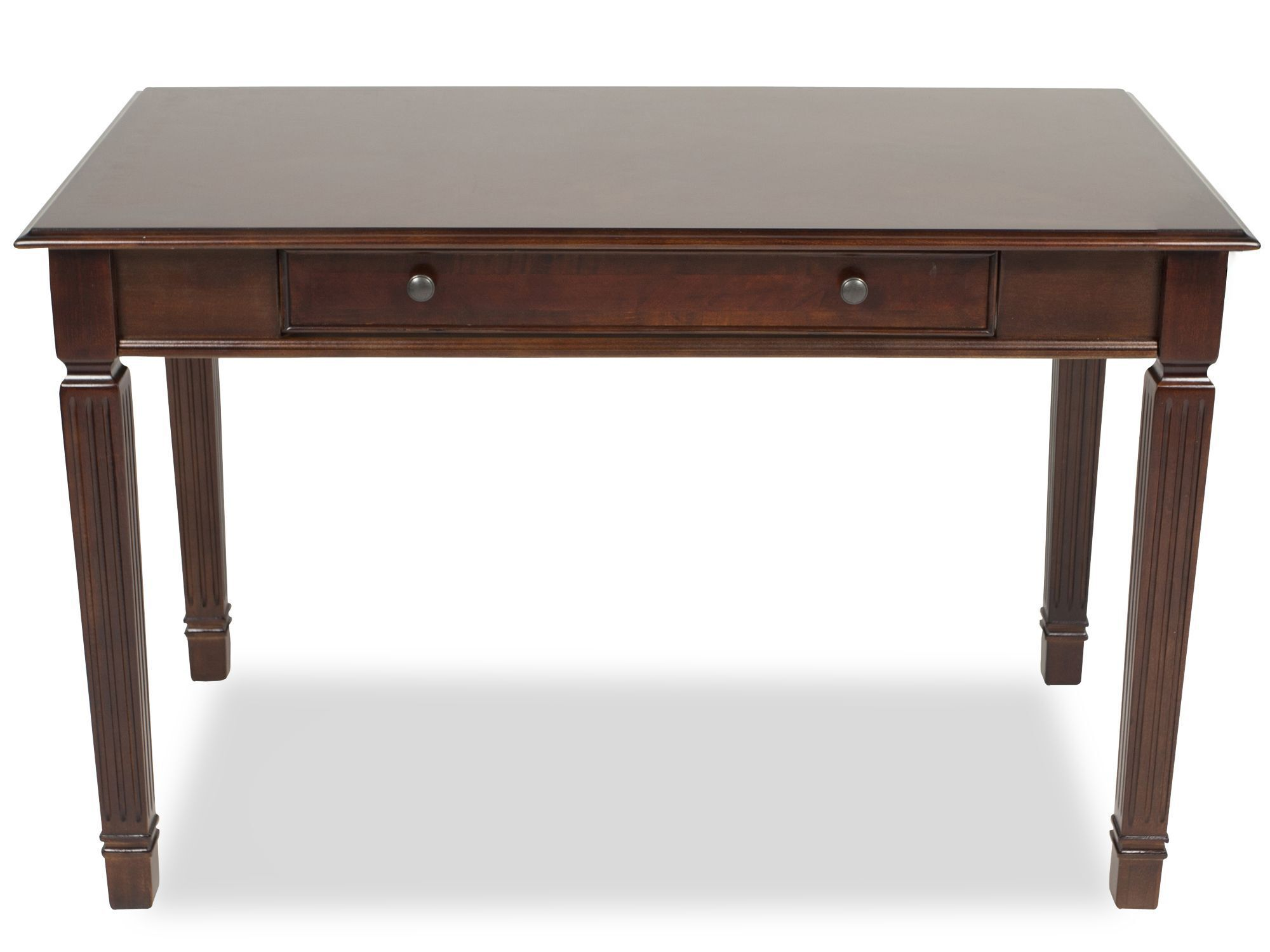 48u0026quot; Traditional One Drawer Desk In Brown 48u0026quot; Traditional  One Drawer Desk In Brown