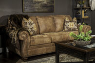 "Traditional Rolled Arm 89"" Sofa in Southwestern Earth Tone"