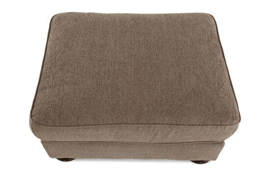 """Traditional 29"""" Ottoman in Brown"""