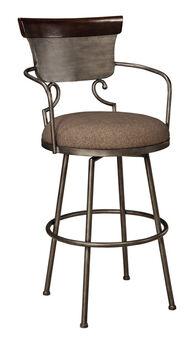 Ashley Moriann Two-Tone Tall Upholstered Bar Stool