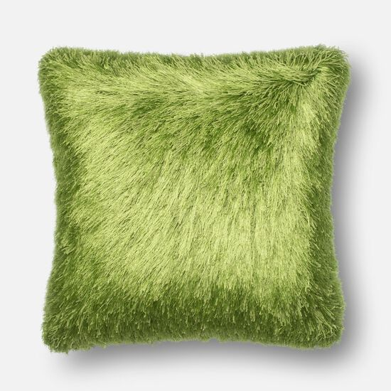 "Contemporary 22""x22"" Cover w/Poly Pillow in Green"