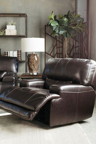 Simon Li Leather Longhorn Blackberry Recliner