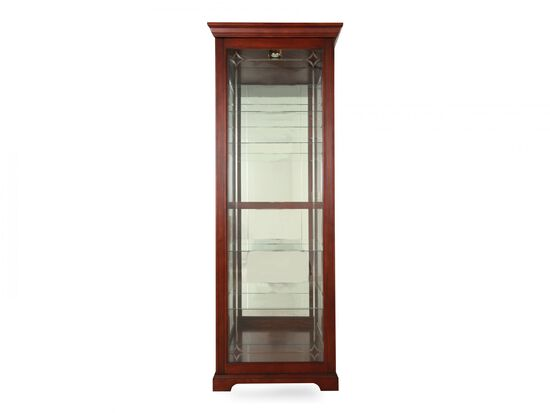Traditional Two-Way Sliding Door Curio in Dark Cherry