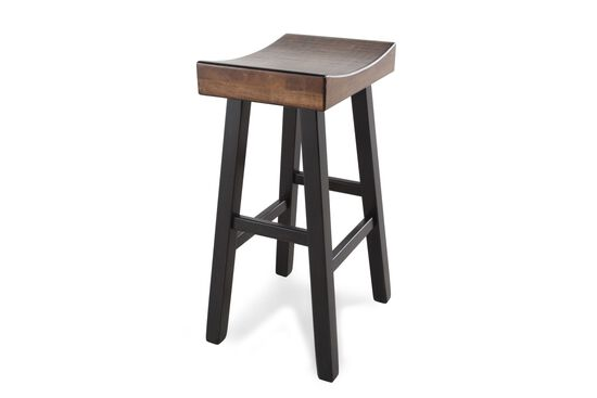 "Casual 31"" Pair of Bar Stools in Dark Brown"