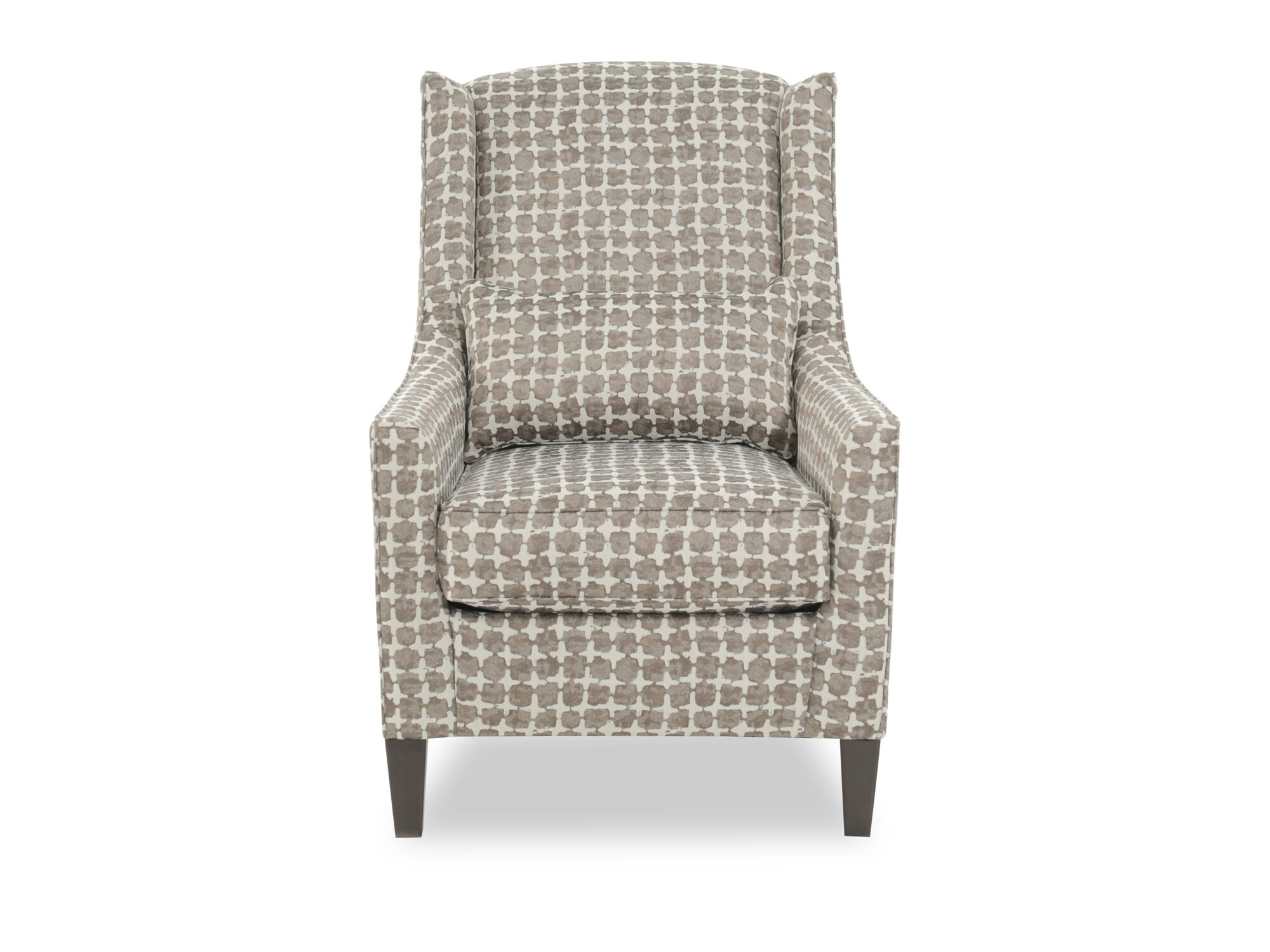 Patterned Contemporary 30u0026quot; Wingback Accent Chair